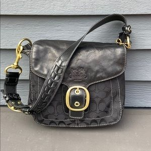 Coach Black Shoulder Bag c 2005/6